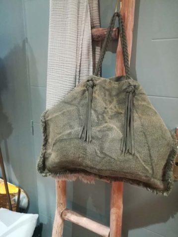 Shopping bag toile kaki